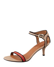 Givenchy Colorblock Ankle-Wrap Sandal
