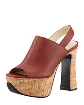 Chloe Alice Leather & Cork Platform Sandal