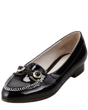 Jason Wu Patent Jewel-Button Oxford, Black