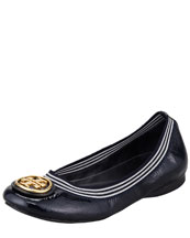 Tory Burch Caroline 2 Striped Ballerina Flat, Tory/Navy