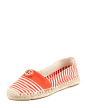 Tory Burch Beacher Canvas Logo Espadrille