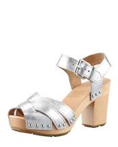 MARC by Marc Jacobs Metallic Clog Sandal
