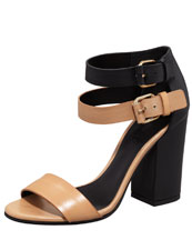 Vince Lana Colorblock Double-Buckle Sandal