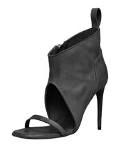 Rick Owens Open-Toe Bootie, Black