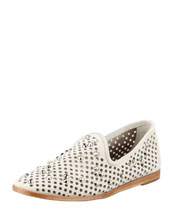 Pedro Garcia Yaden Perforated Crystal Smoking Slipper, Ice