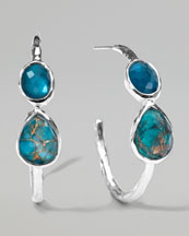Ippolita Wonderland Gelato Malibu Hoop Earrings