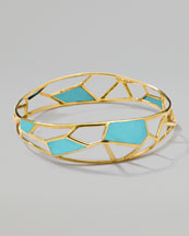 Ippolita Polished Rock Candy Mosaic Bangle, Turquoise