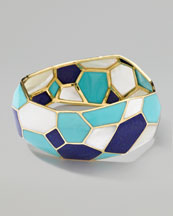 Ippolita Gold Rock Candy Large Multi-Stone Mosaic Bangle