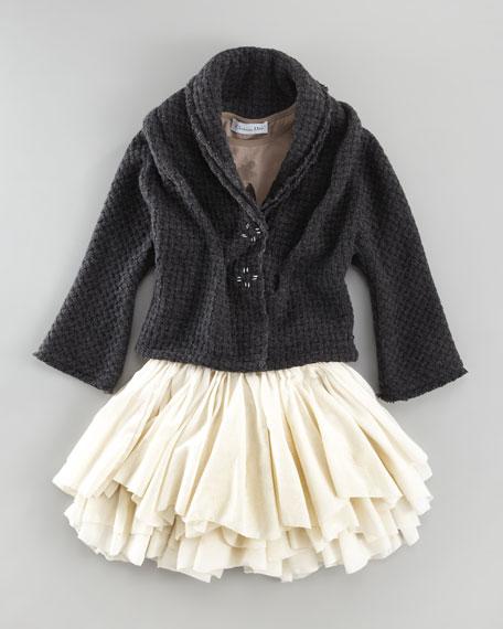 Basket-Weave Jacket, Sizes 2-4