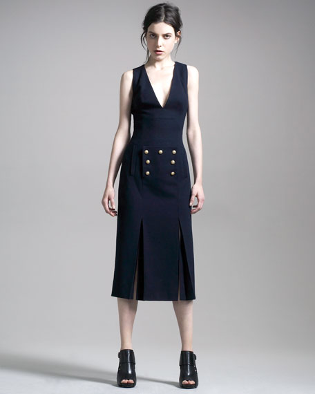 Midi Sailor-Button Dress