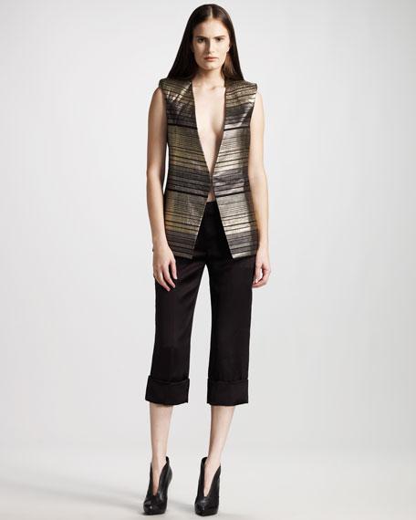 Cropped Silk Pants