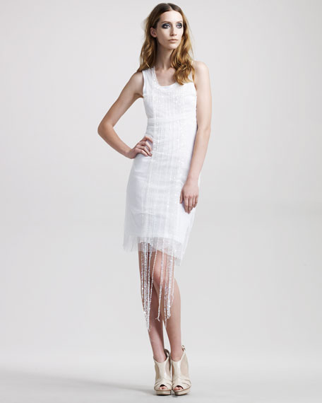 Double-Layer Sequined Dress