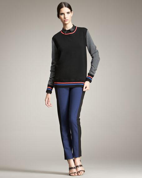 Colorblock Varsity Sweatshirt