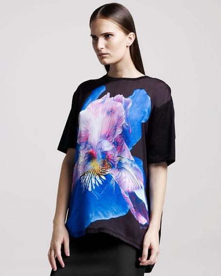 Oversized Iris-Print Tee