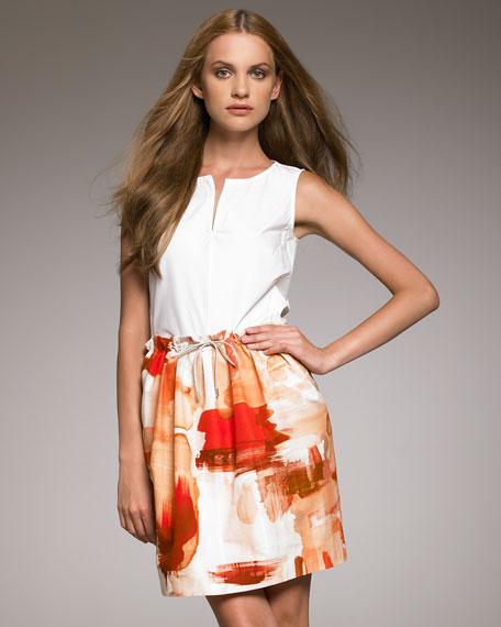 Drawstring-Waist Skirt