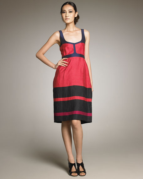 Swingy Contrast Dress
