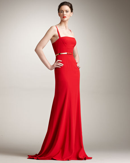 Fitted Crepe Gown