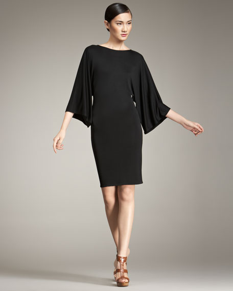 Sonia Kimono-Sleeve Dress