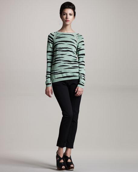 Tiger-Print Sweater