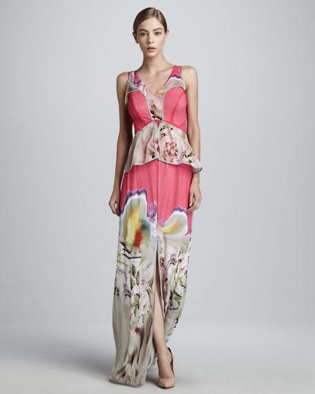 Printed Chiffon Gown