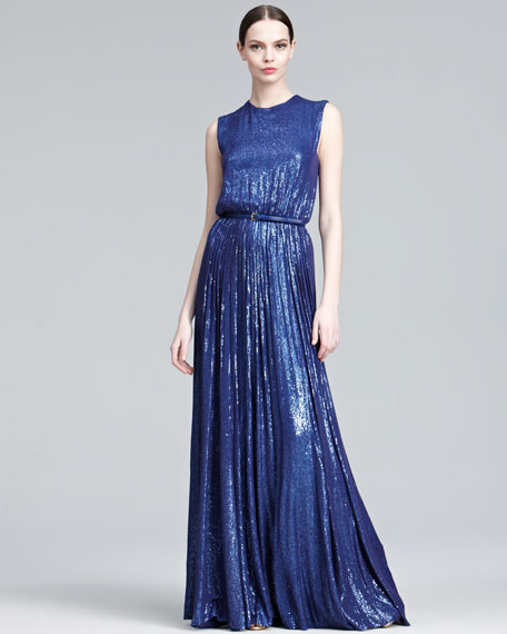 Mini-Sequined Gown