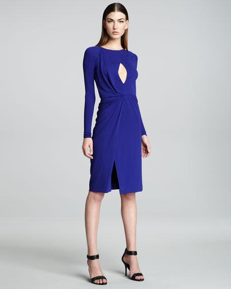 Long-Sleeve Jersey Dress