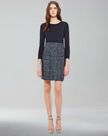 Jersey & Tweed Combo Dress