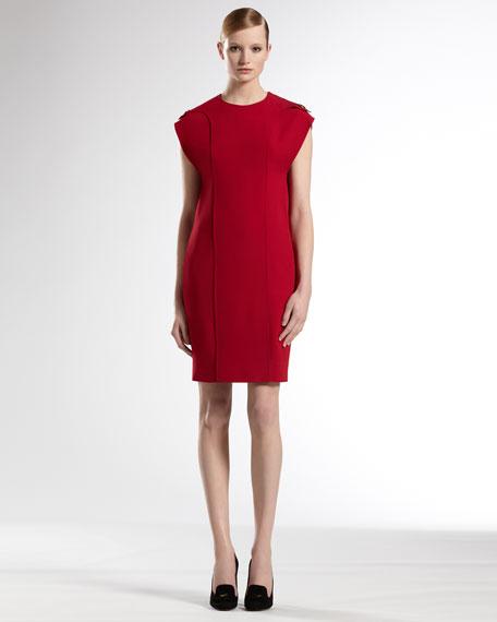 Shoulder Flap Dress