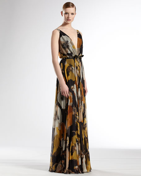 Oshibana Printed Gown