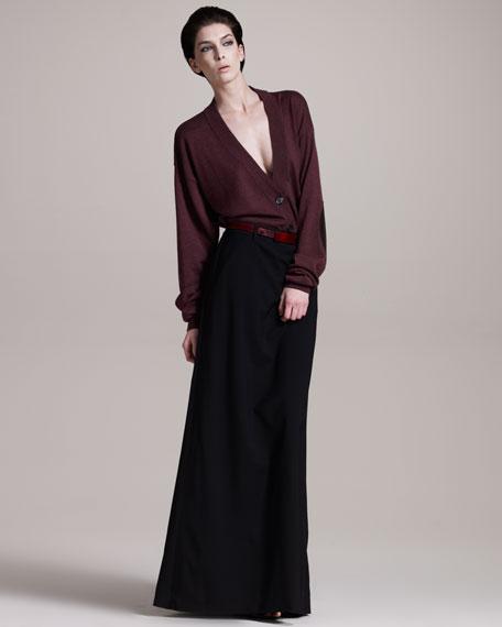 Long Tuxedo Skirt
