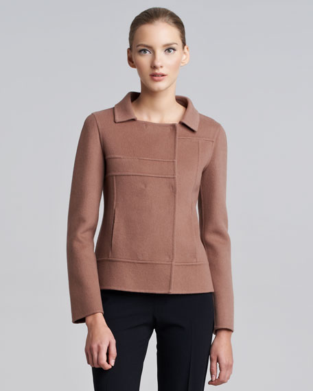 Seamed Snap-Front Jacket