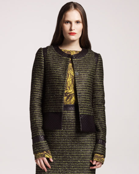 Metallic Tweed Jacket