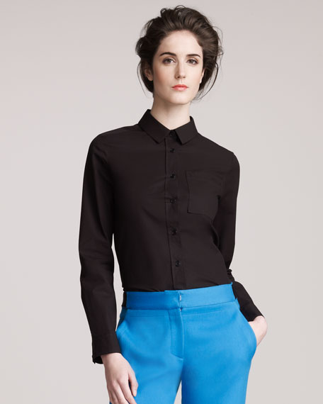 Collared Cotton Blouse