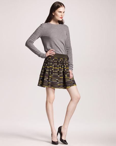 Striped Georgette Skirt