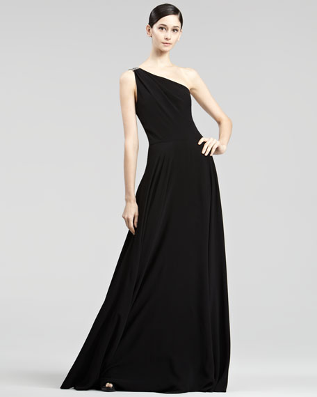 Garret One-Shoulder Gown