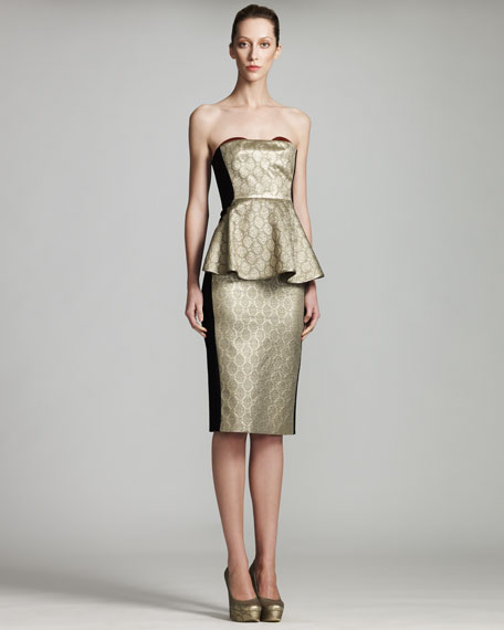 Metallic Bustier Dress