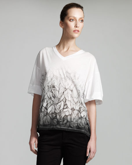 Feather-Print Tee