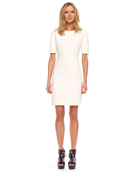 Stretch Boucle Shift Dress
