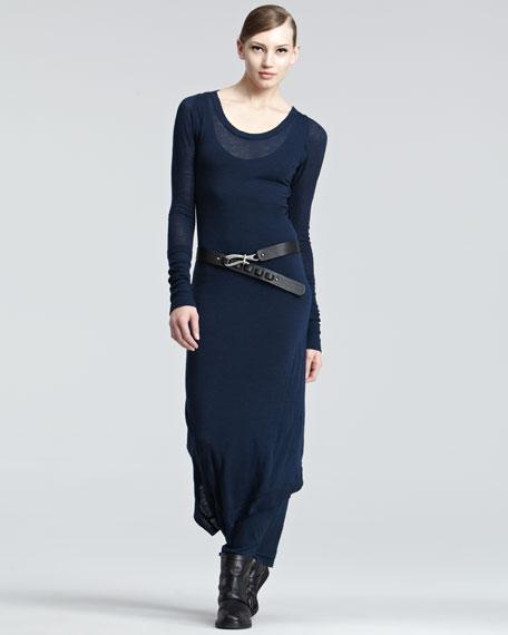 Melange Jersey Maxi Dress