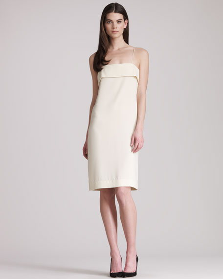 Crepe-Back Satin Slip Dress