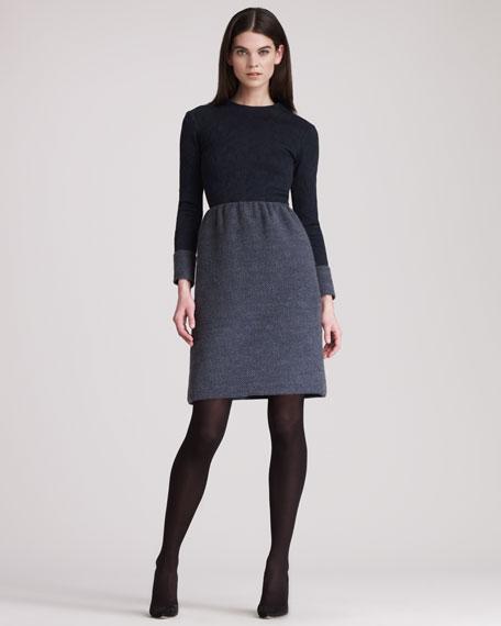 Jacquard Combo Dress