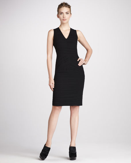 Ruched Georgette Dress