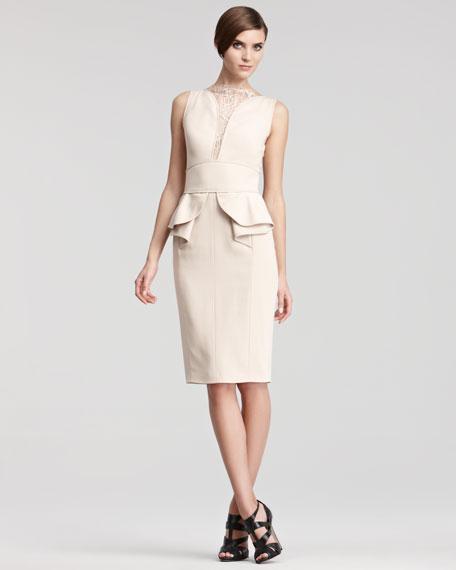 Lace-Inset Cocktail Dress