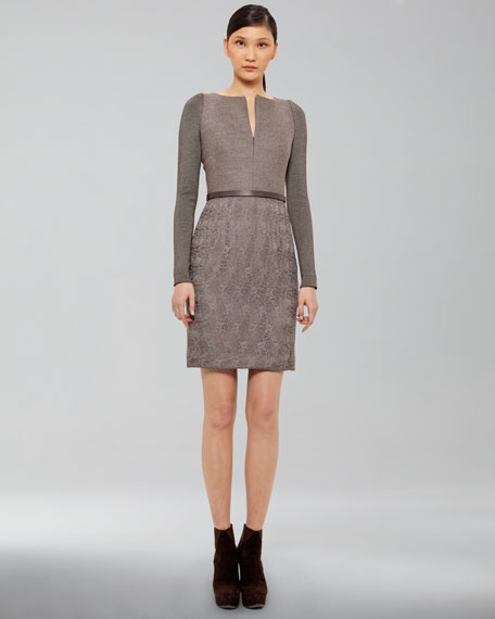 Tweed/Lace Dress