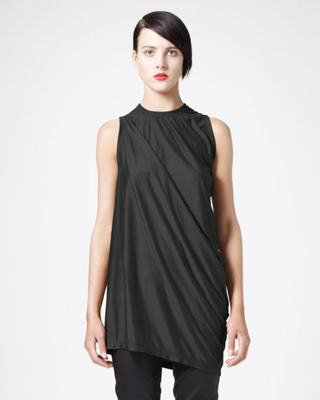 Asymmetric Draped Tee