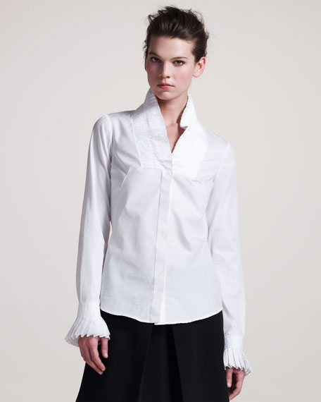 Knife-Pleated Blouse