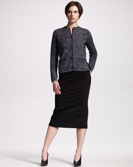 High-Waist Jersey Skirt