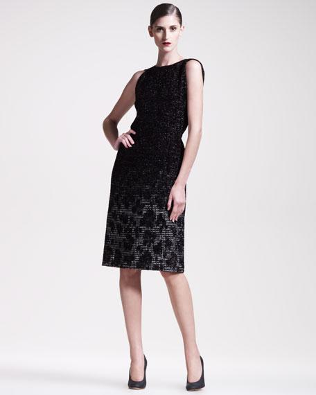 Degrade Animal-Jacquard Dress