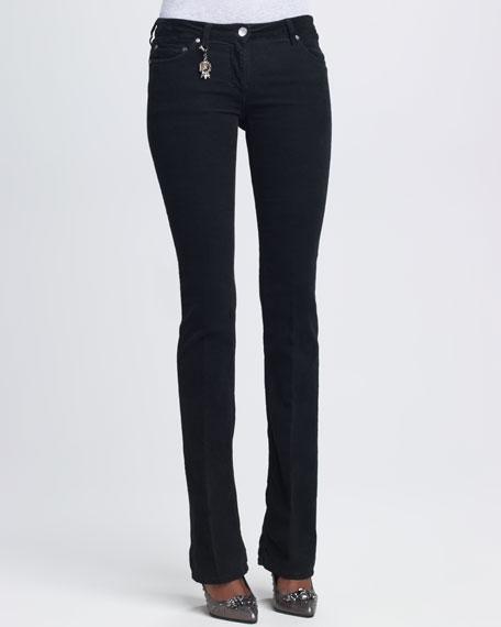 Skinny Stretch Velvet Pants