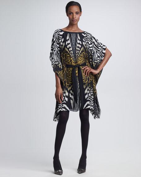 Tie-Waist Caftan Dress